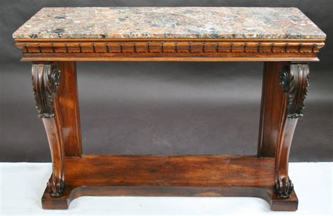 regency rosewood marble top console table 294236