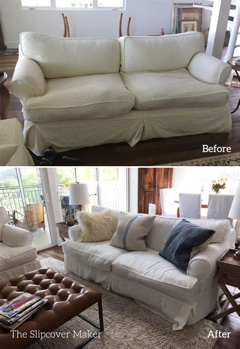 Favorite White Linen For Sofa Slipcovers The Slipcover Linen Slipcovers For Sofas