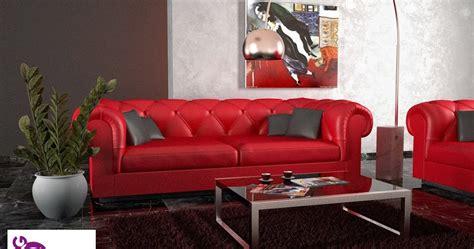 divano pelle rosso arredamento di interni divani divano rosso in pelle ed in