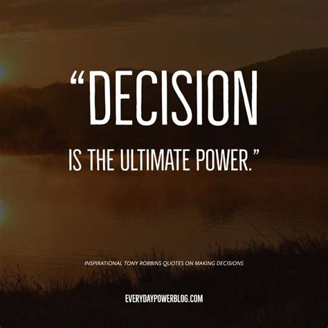decision quotes 10 inspirational tony robbins quotes on decisions