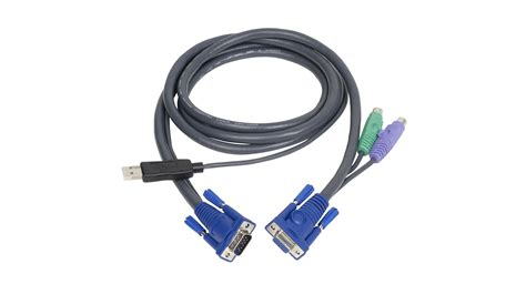 kvm cable ps2 to usb iogear g2l5502up ps 2 to usb intelligent kvm cable