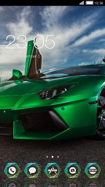 themes for android of cars download cool car green lamborghini theme for your
