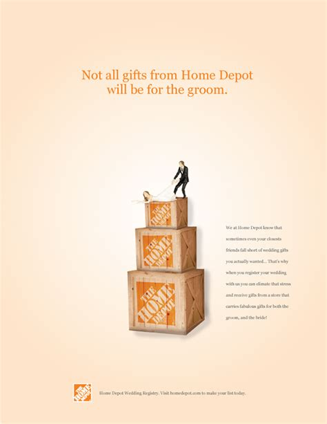 home depot wedding registry on the adweek talent gallery