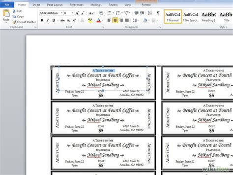 sle ticket template for events creating a event program in word developerstweet