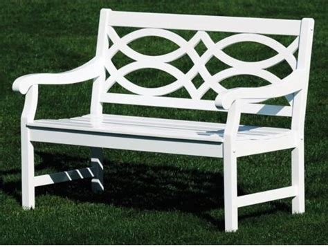 white bench outdoor hennell eucalyptus white lattice back bench traditional