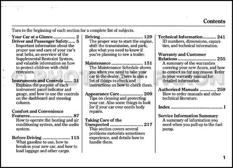 auto manual repair 1999 acura integra electronic toll collection 1999 acura integra owners manual original