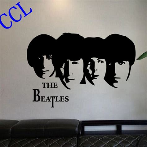 beatles wall stickers free shipping classic band the beatles removable wall