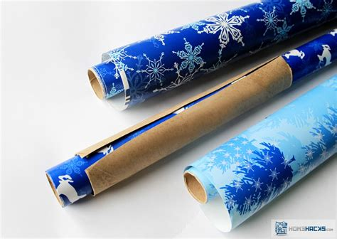 paper towel tube wrapping paper holder homehacks