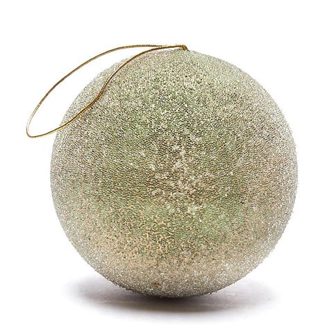 large gold beaded ball ornament christmas ornaments