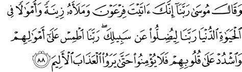 Tafsiran Yunus tafsir surah yunus ayat 85 88 celik tafsir