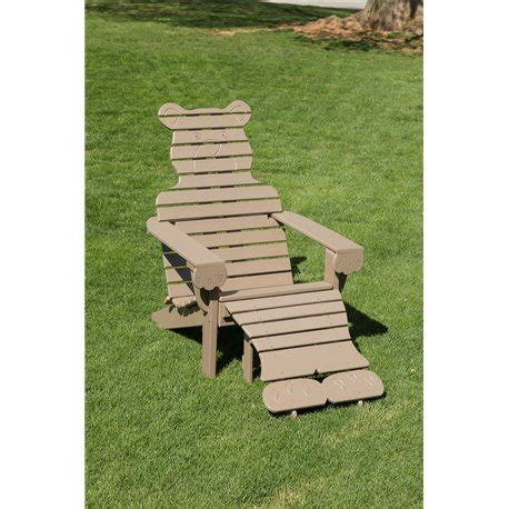 adirondack chair and ottoman shaped adirondack chair with ottoman