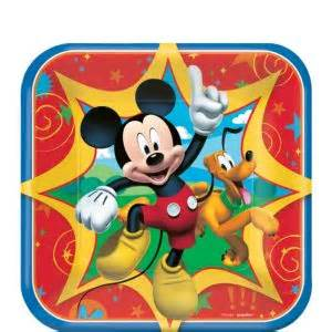 mickey mouse dessert plates ct party city
