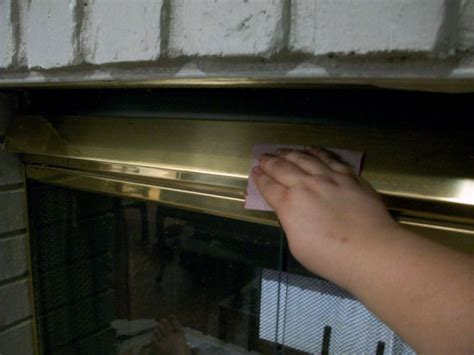 how to paint a brass fireplace screen