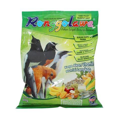 Daftar Harga Pakan Burung Ronggolawe jual ebod jaya ronggolawe voer rumput laut makanan burung