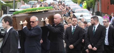 mourners pay their respects to northern ireland football