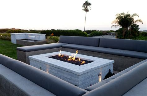 Imaginative Rectangular Fire Pit Remodeling Ideas With Modern Outdoor Pit