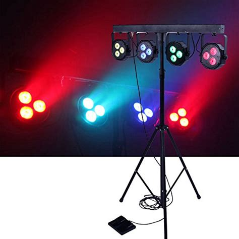 Led Light Bar Dj Dragonx 4 Bar Led Mobile Dj Stage Lighting Packages Led Wash Stage Light System Dj Light Kit Gig