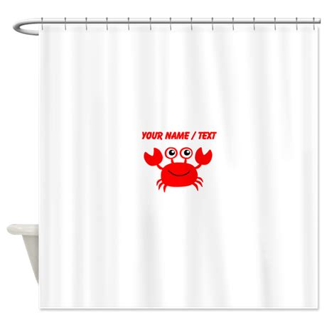 crab curtains custom red crab shower curtain by customanimals