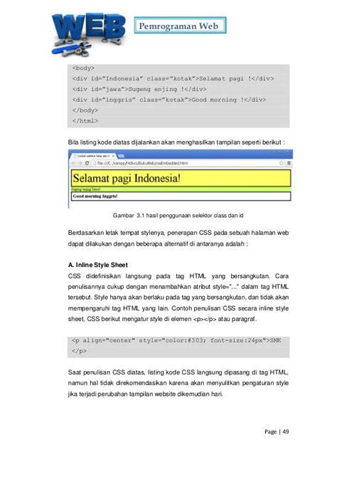 Pemrograman Web pemrograman web