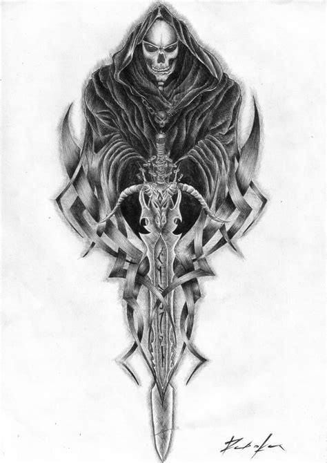tattoo grim reaper grey ink grim reaper tattoos designs
