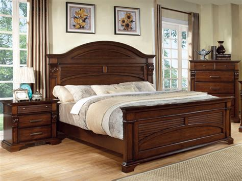 contemporary walnut bedroom furniture furniture of america eminell 3 antique walnut bed
