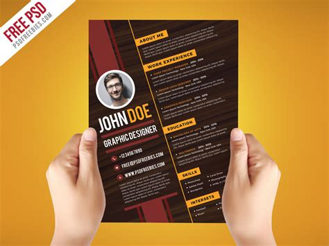 graphic resume templates creative graphic designer resume template psd
