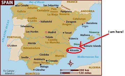 map of alicante area alicante spain map imsa kolese