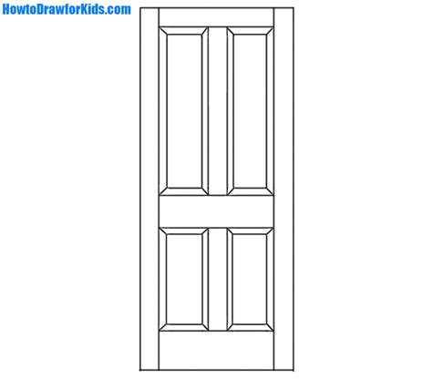 Drawing Of A Door by How To Draw A Door For Beginners Howtodrawforkids