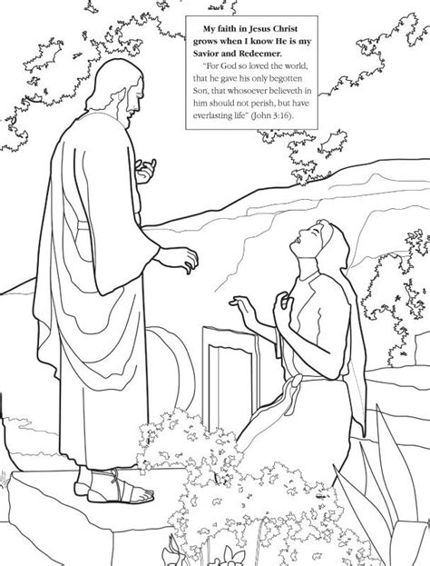 lds coloring pages faith in jesus christ jesus bringing lazarus coloring page pages easter story
