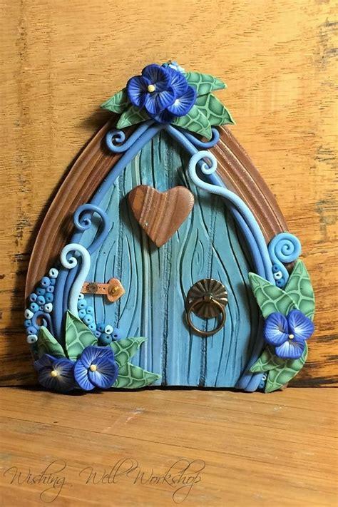 polymer clay fairy door fairy doors pinterest