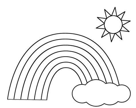 rainbow templates to colour printable rainbow coloring pages for new coloring