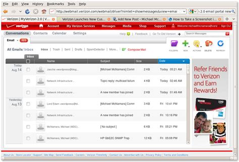 verizon net email on android verizon email terbitkan artikelmu
