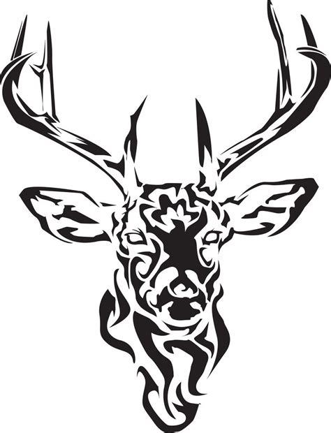 tribal hunter tattoo black tribal deer design deer