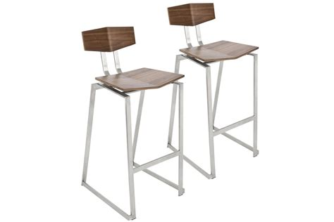 Stainless Bar Stools Contemporary by Flight Contemporary Stainless Steel Counter Stool In