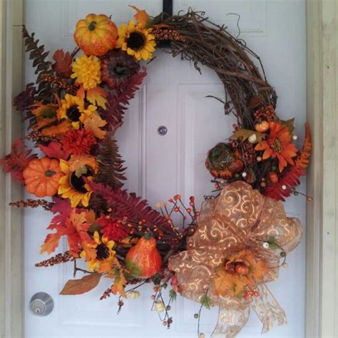 fall wreath diy crafts pinterest