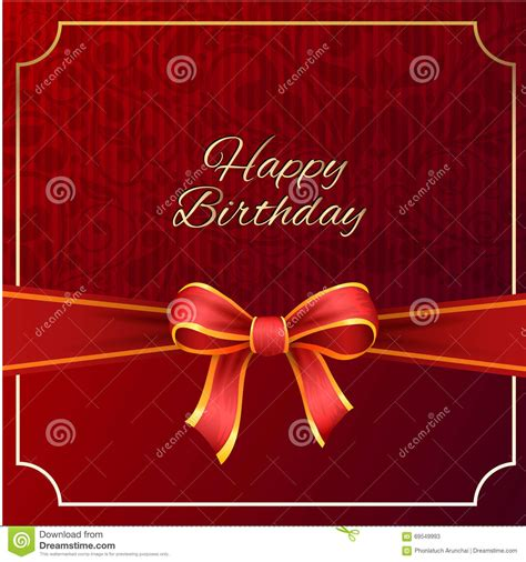 happy birthday red design happy birthday with red ribbon vector design vector