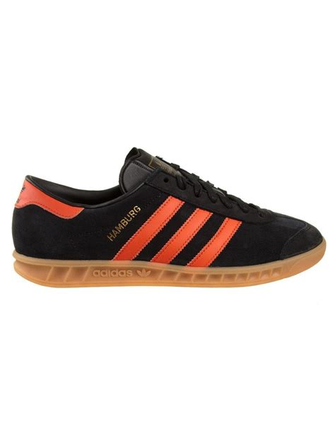 adidas originals hamburg shoes black orange adidas originals from iconsume uk