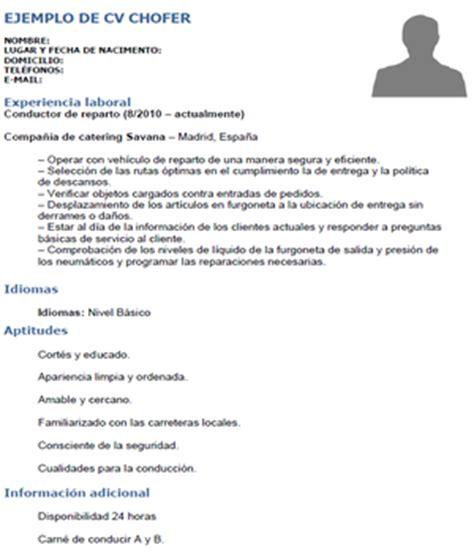 Modelo De Curriculum Vitae Para Chofer Peru Modelo De Curriculum Vitae Logistica Modelo De Curriculum Vitae