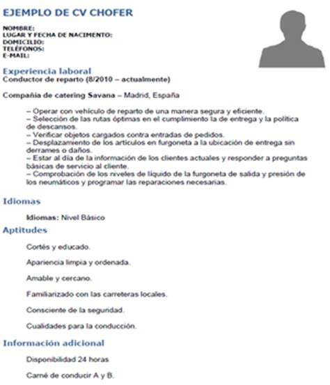 Modelo Curriculum Vitae De Un Conductor Modelo De Curriculum Vitae Logistica Modelo De Curriculum Vitae