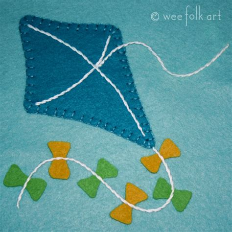 felt kite pattern kite applique block wee folk art