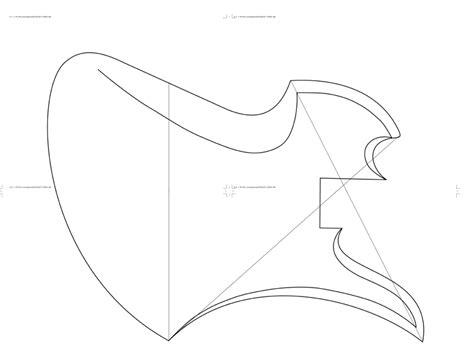 pin printable guitar template pdf page 7 telecaster forum