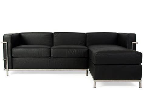 famous sofas lc2 le corbusier corner sofa black