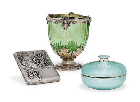 Sugar Glass Vase by A Silver Mounted Green Glass Sugar Vase Of