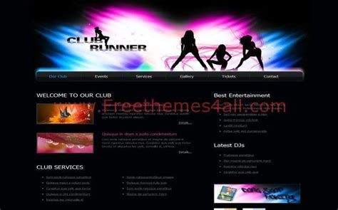 free templates for music website abstract black music club css template