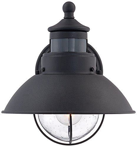 dusk to dawn light fixture fallbrook 9 quot h black dusk to dawn motion sensor outdoor light