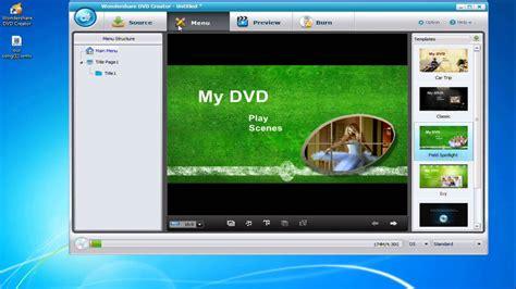 wondershare dvd creator menu templates how to use wondershare dvd creator