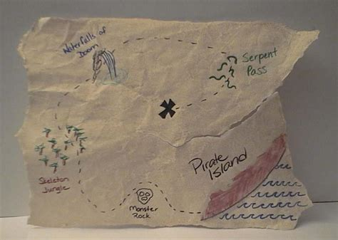 How To Make Treasure Map Paper - treasure map