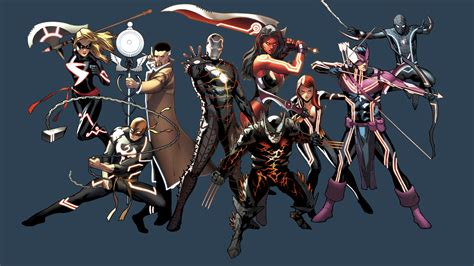 marvel heroes with weapons fb cover ocean collage full hd wallpaper and background image 1920x1080