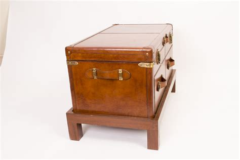 caign desk with hutch luggage trunk coffee leather caign trunk coffee