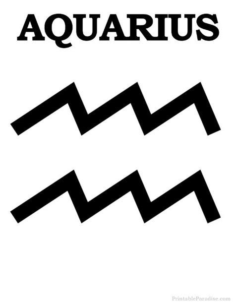 printable zodiac signs and meanings printable aquarius zodiac sign print aquarius symbol